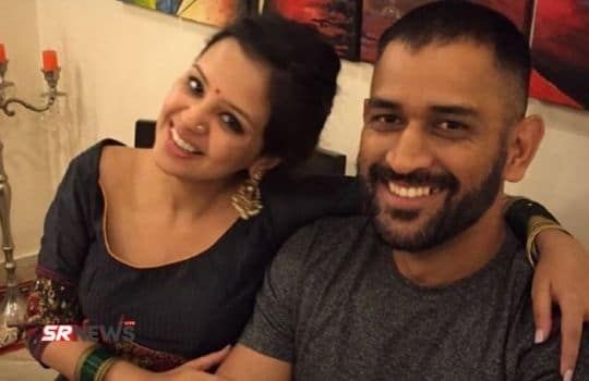Dhoni with wife
