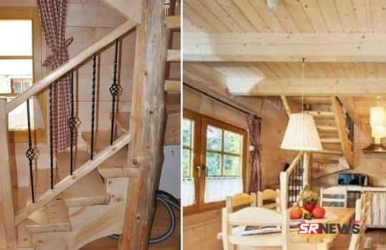 290 square feet wooden house inside pic