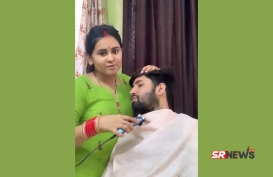Husband wife Shaving video