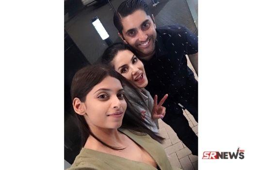 Sunny Leone with Karishma Naidu