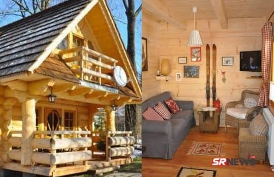 wooden house inside pic