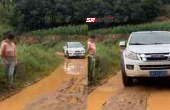 Muddy road viral video