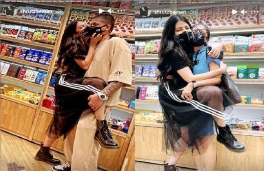 Shruti Haasan kiss boyfriend