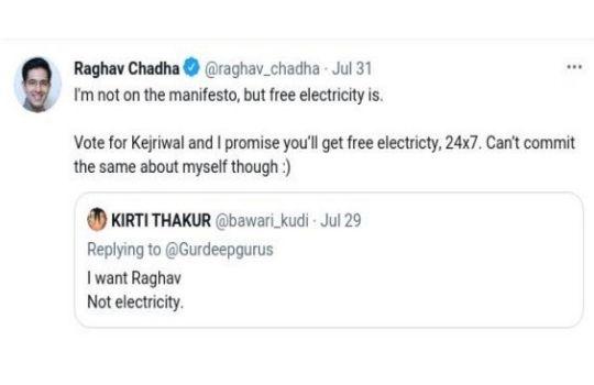 Girl wants Raghav Chadha