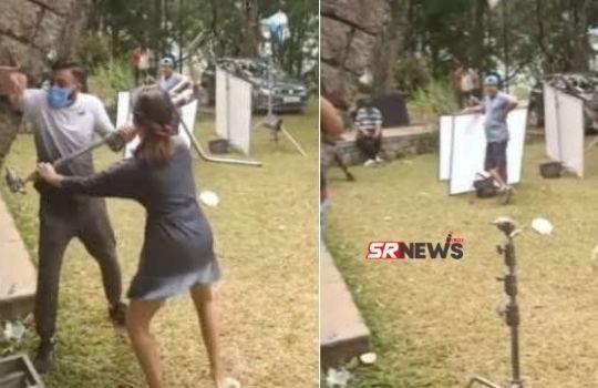 Sunny Leone Fight video