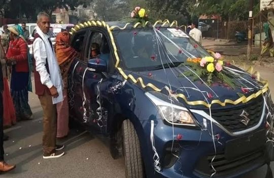 Father in law gifted car to daughter in law