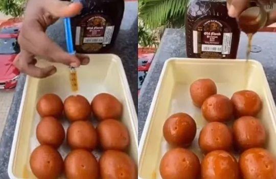 Gulab Jamun Monk Viral Video
