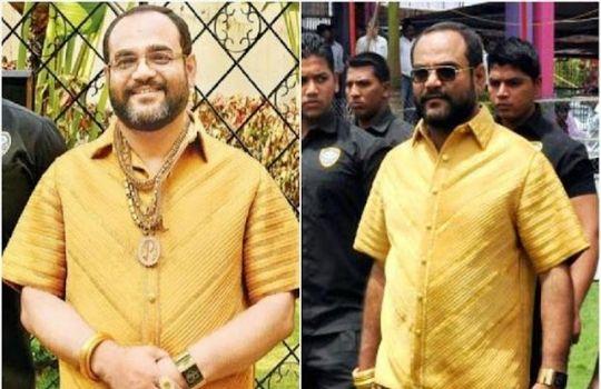 Man in Golden Shirt Maharashtra