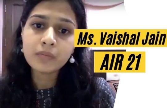 UPSC Topper Vaishali Jain